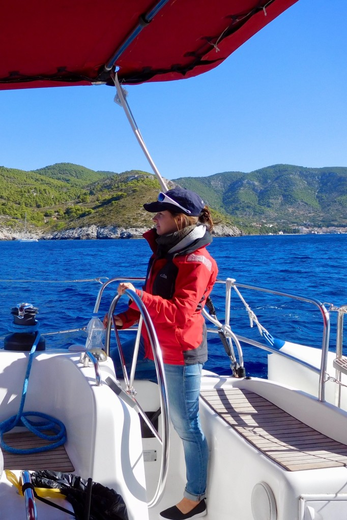 Alexandra at the helm