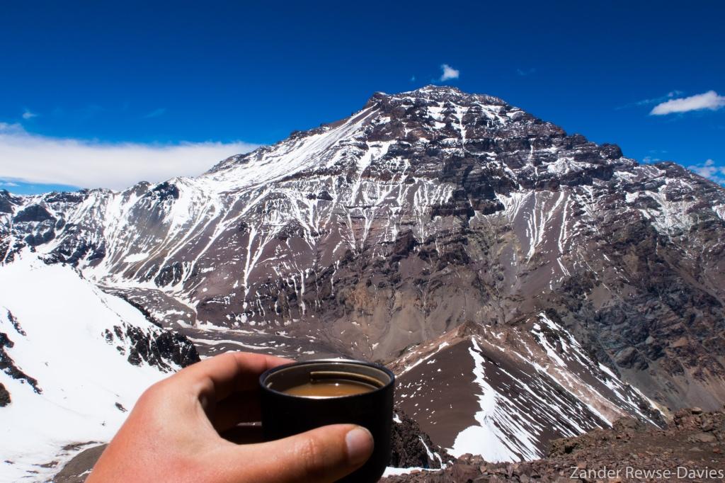 Cheers to Aconcagua, with Earl Grey tea