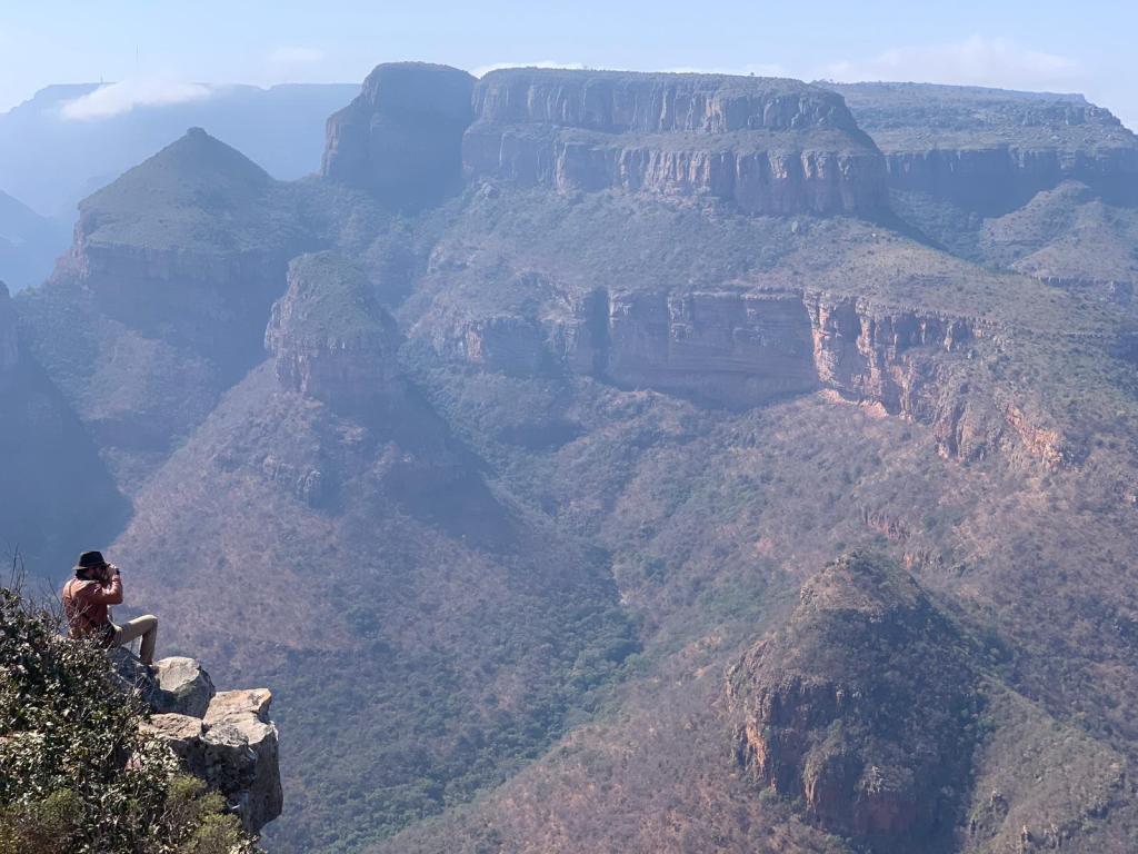 Canyon View with binoculars