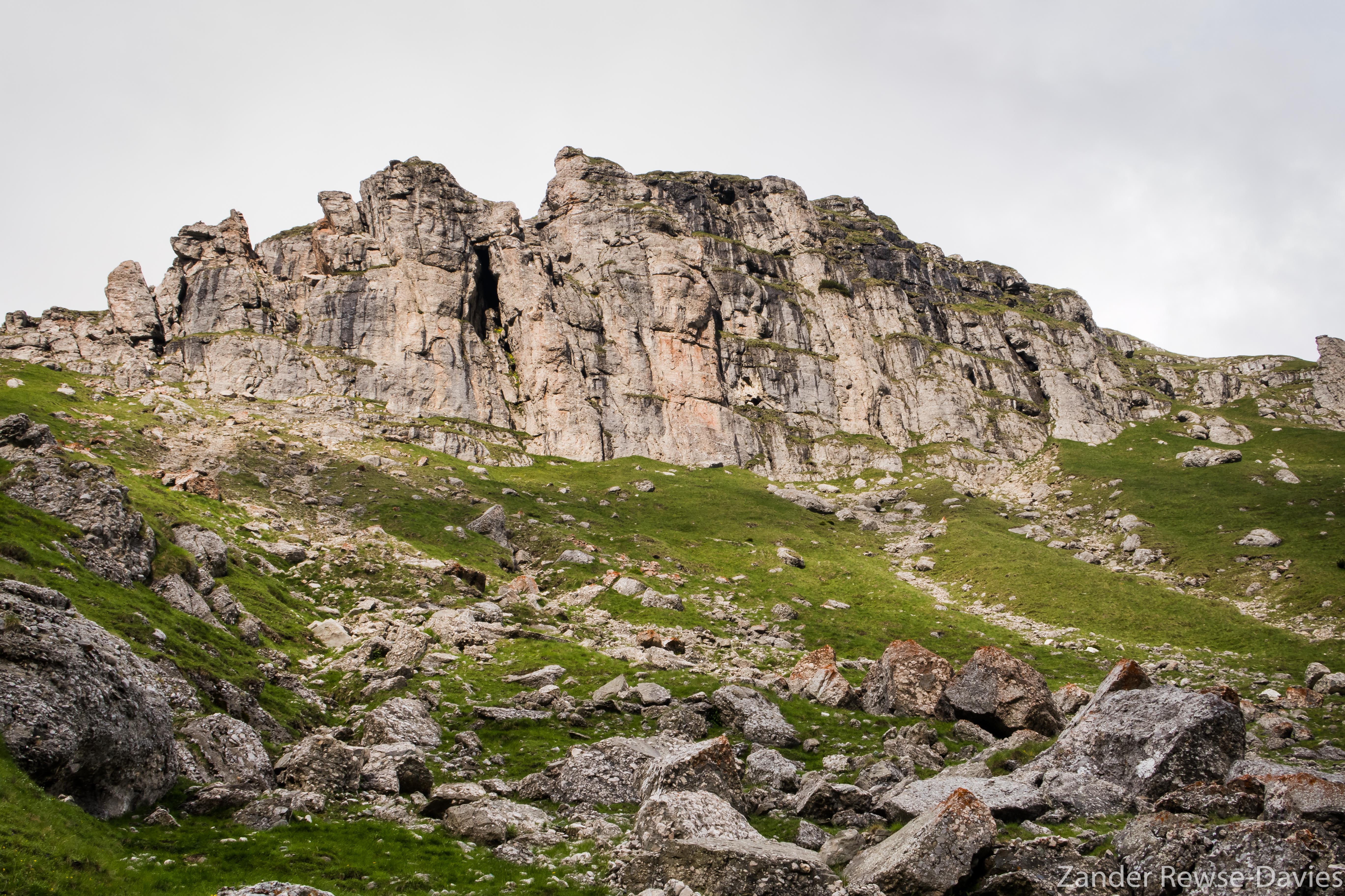Rock formation in Bucegi, Romania