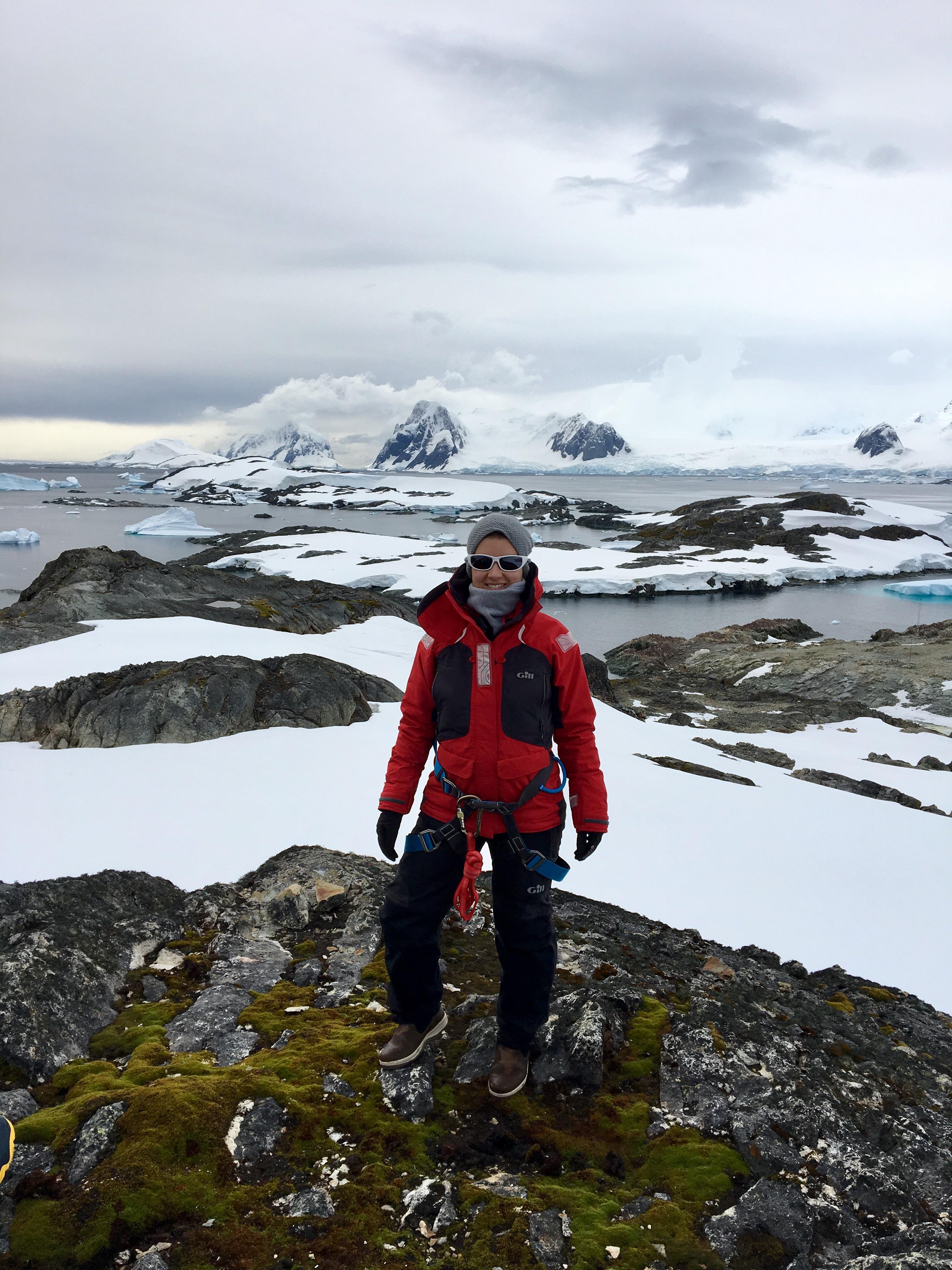 Alexandra exploring Antarctica