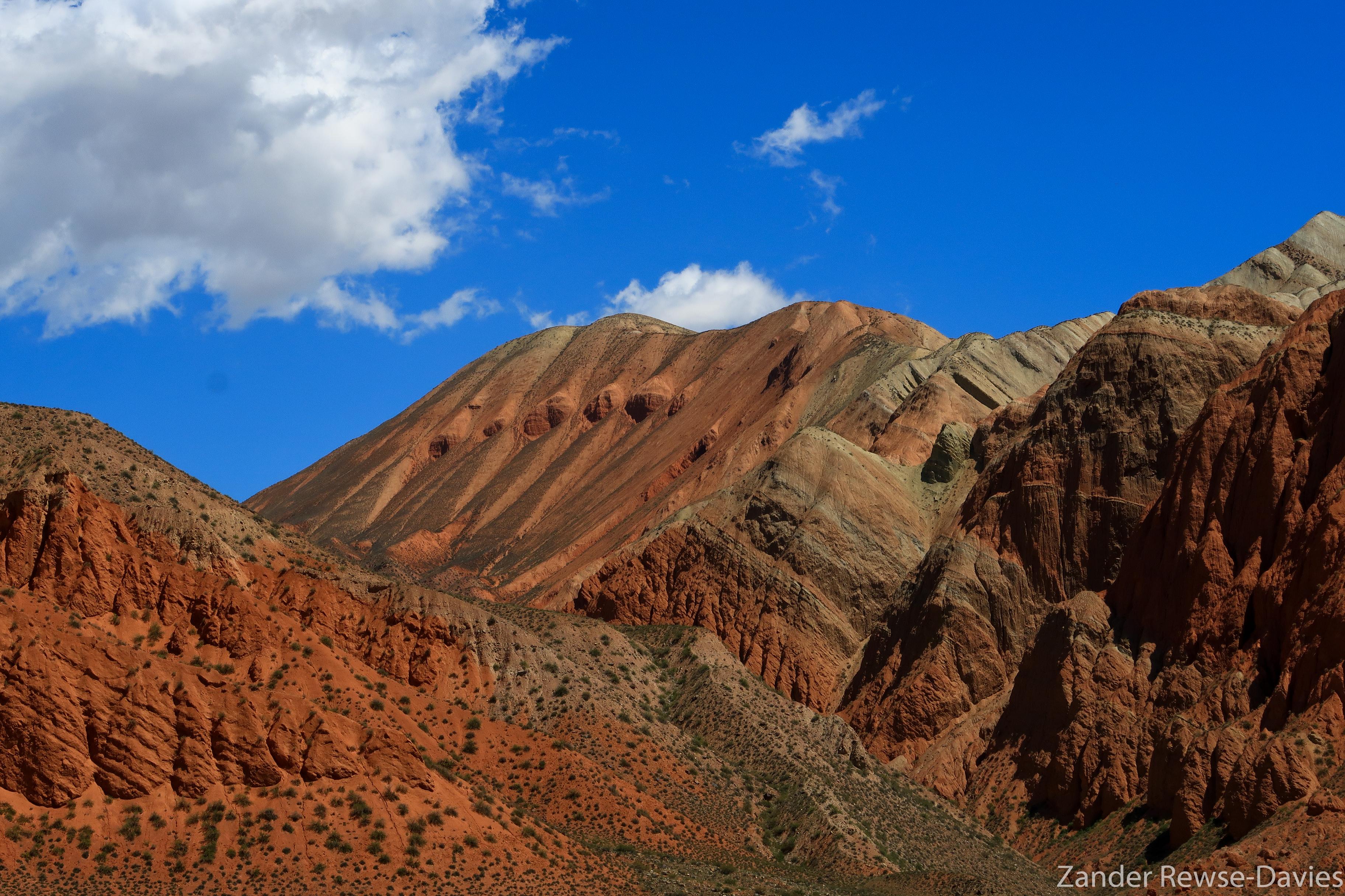 Kyrgyzstan sandstone formations