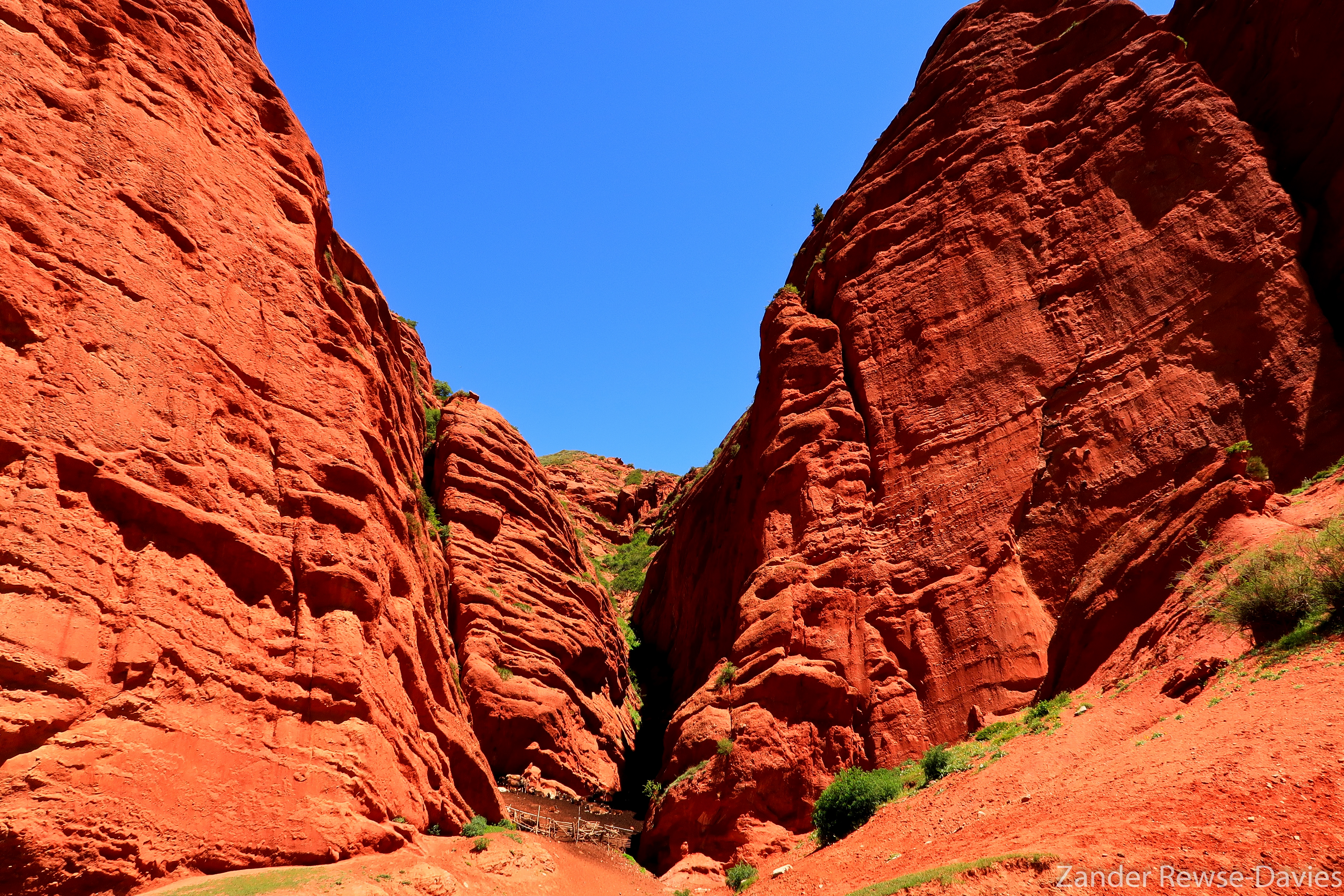 Red sandstone canyons at Djety Ogyuz