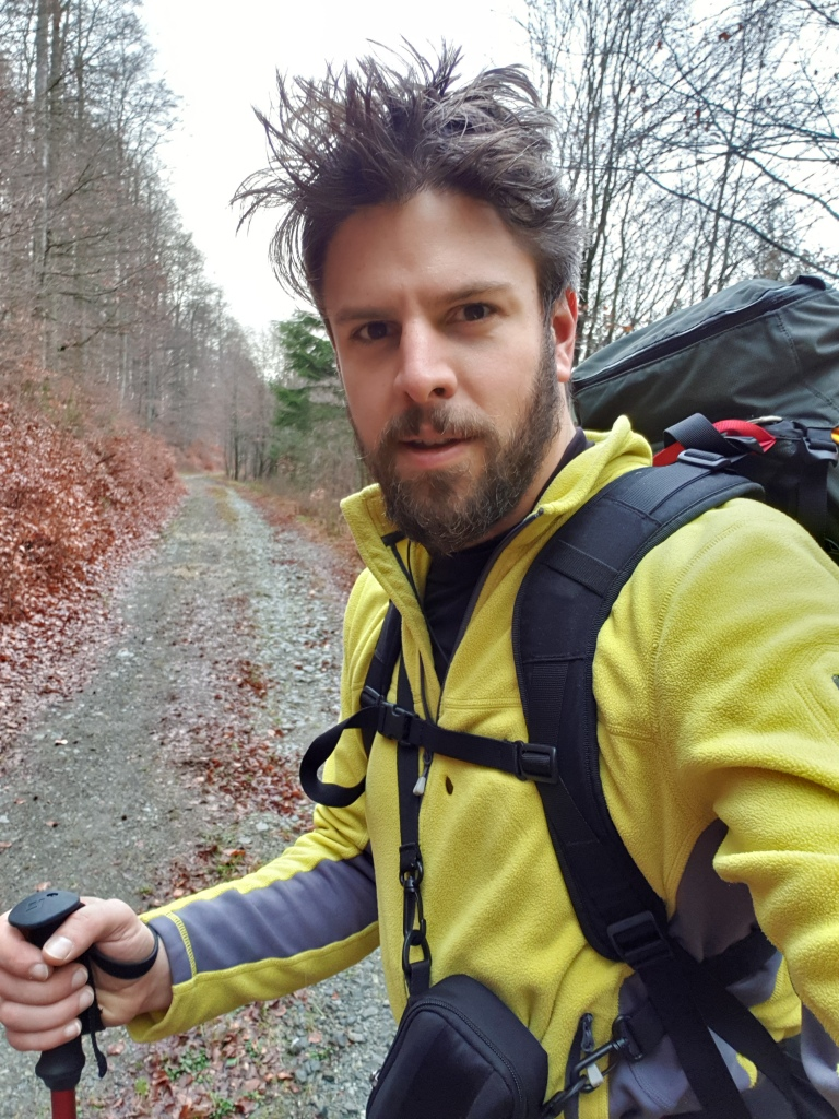 Multiday hiking with my tent in Germany, for training
